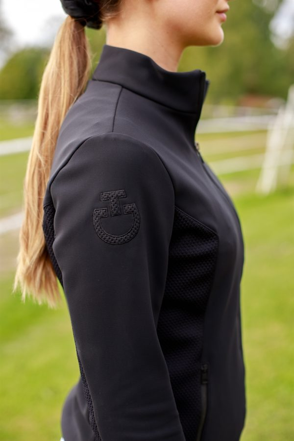Cavalleria Toscana - Jersey Fleece Sweatshirt with tech knit jersey