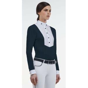 Cavalleria Toscana - Tävlingsskjorta Techn Shirt W/BIB L/S