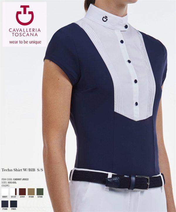 Cavalleria Toscana - Technical Shirt W/BIB S/S