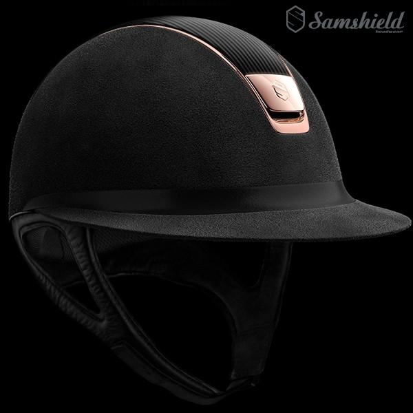 Samshield Miss Shield Alcantara Svart - Leather & Rosé Chrome