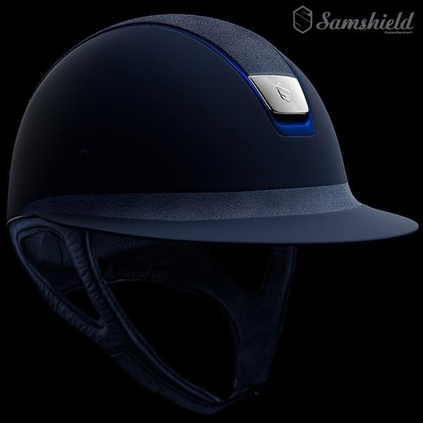 Samshield Miss Shield Shadowmatt Blå - Alcantara Top & Blue Trim